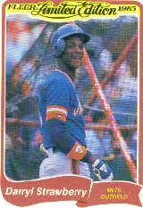 1985 Fleer Limited Edition #38 Darryl Strawberry