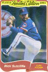 1985 Fleer Limited Edition #39 Rick Sutcliffe