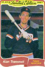 1985 Fleer Limited Edition #40 Alan Trammell
