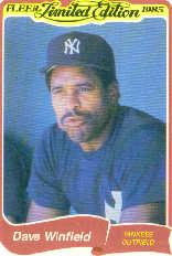 1985 Fleer Limited Edition #43 Dave Winfield