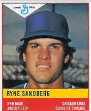 1985 General Mills Stickers #8 Ryne Sandberg