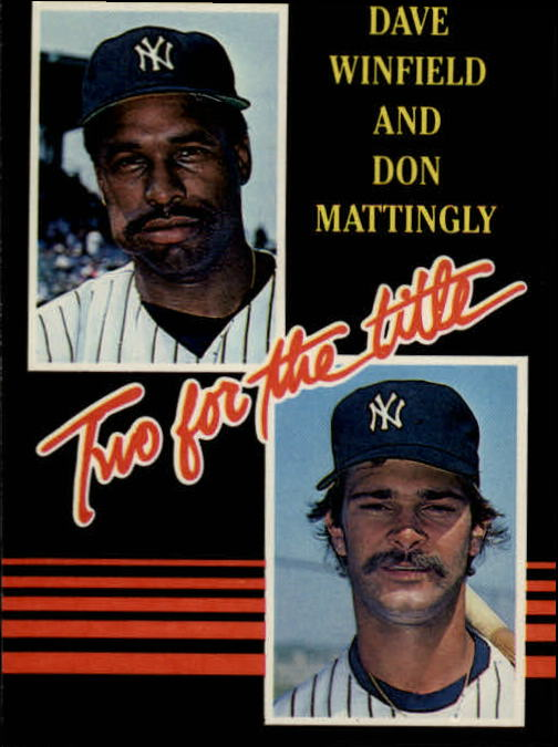 1985 Leaf/Donruss #140 Dave Winfield/Don Mattingly/Two for the Title front image