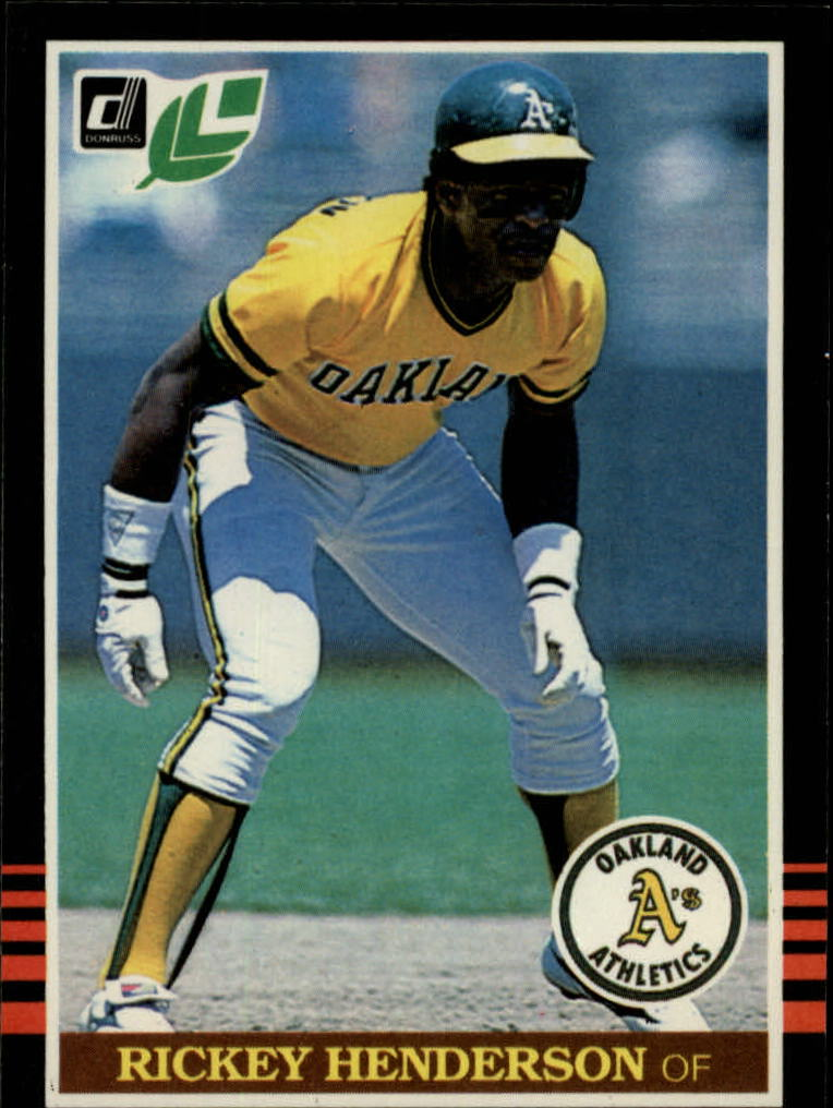 1985 Leaf/Donruss #208 Rickey Henderson