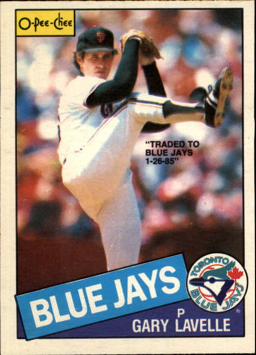 1985 O-Pee-Chee #2 Gary Lavelle/Traded to Blue Jays 1-26-85