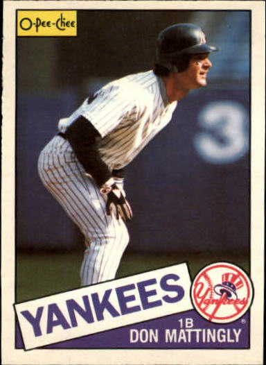 1985 O-Pee-Chee #324 Don Mattingly