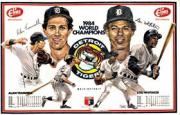 1985 Tigers Elias Brothers Placemats #4 Alan Trammell/Lou Whitaker