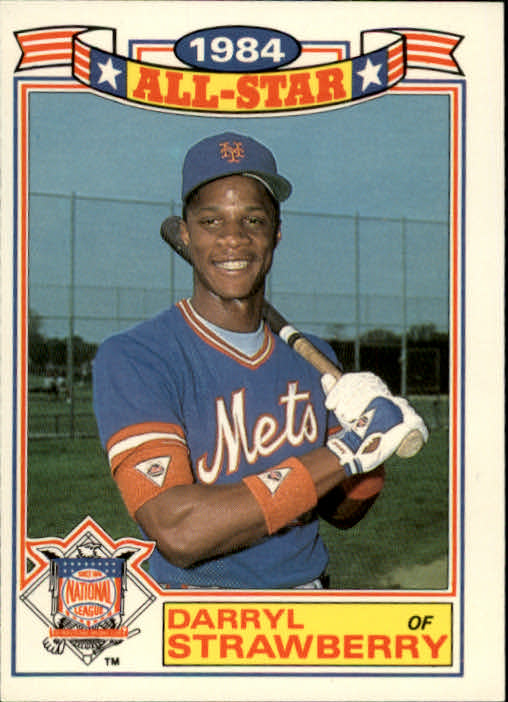1985 Topps Glossy All-Stars #8 Darryl Strawberry