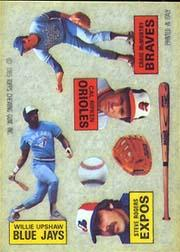 1985 Topps Rub Downs #31 Craig McMurtry/Cal Ripken/Steve Rogers/Willie U