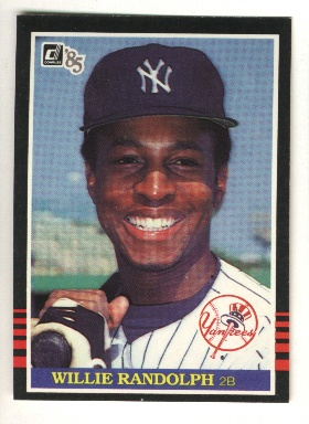 1985 Donruss #92 Willie Randolph