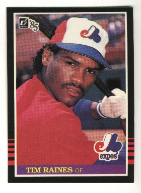 1985 Donruss #299 Tim Raines