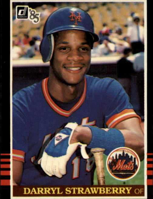 1985 Donruss #312 Darryl Strawberry front image