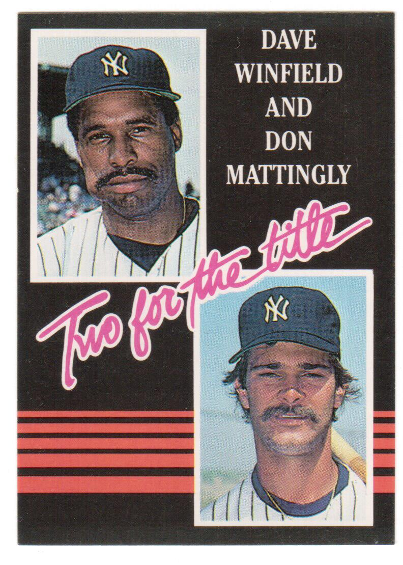 1985 Donruss #651A D.Mattingly/D.Winfield YL