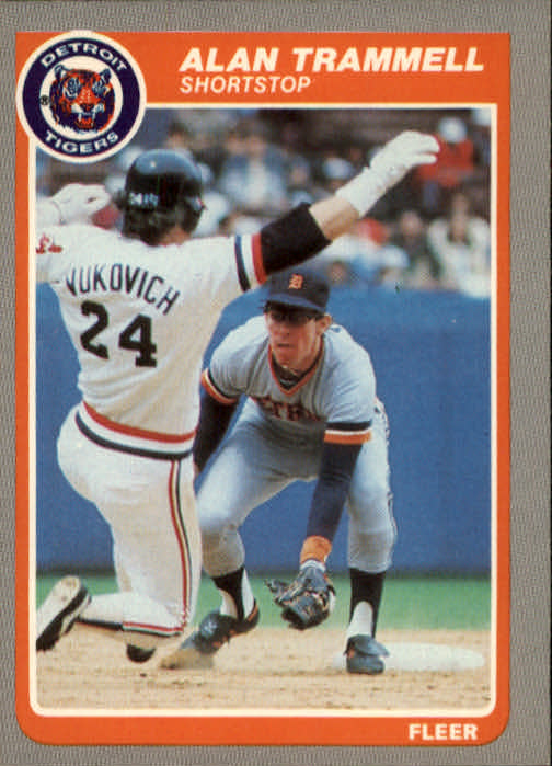 1985 Fleer #23 Alan Trammell