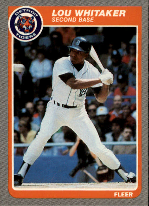 1985 Fleer #24 Lou Whitaker