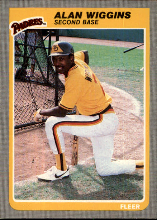 1985 Fleer #48 Alan Wiggins