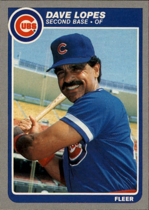 1985 Fleer #60 Dave Lopes