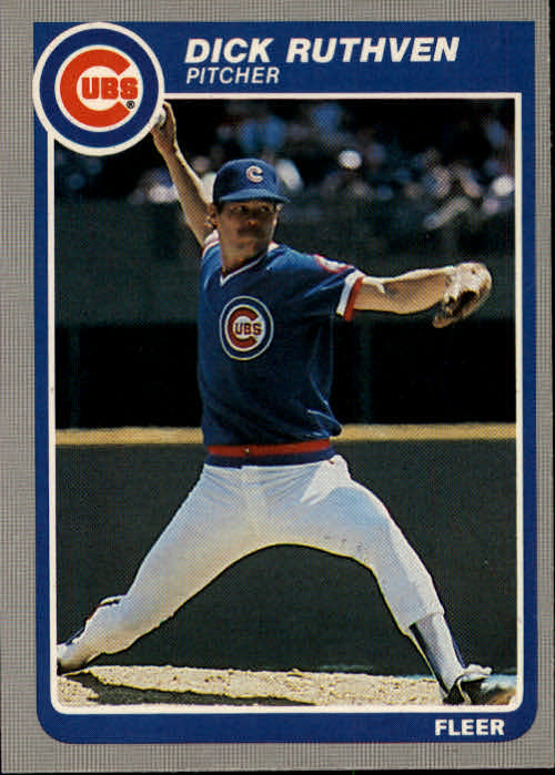 1985 Fleer #64 Dick Ruthven
