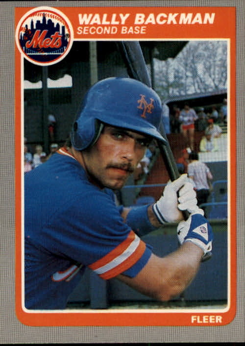 1985 Fleer #72 Wally Backman
