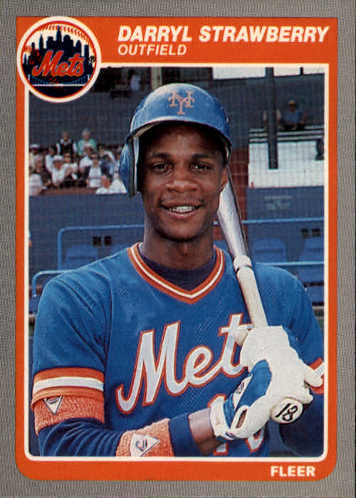 1985 Fleer #93 Darryl Strawberry