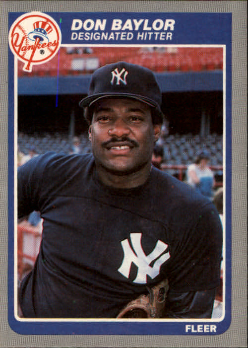1985 Fleer #121 Don Baylor