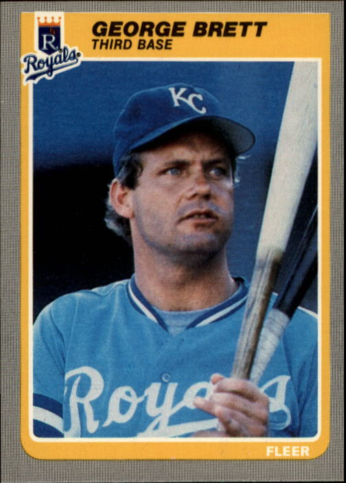 1985 Fleer #199 George Brett