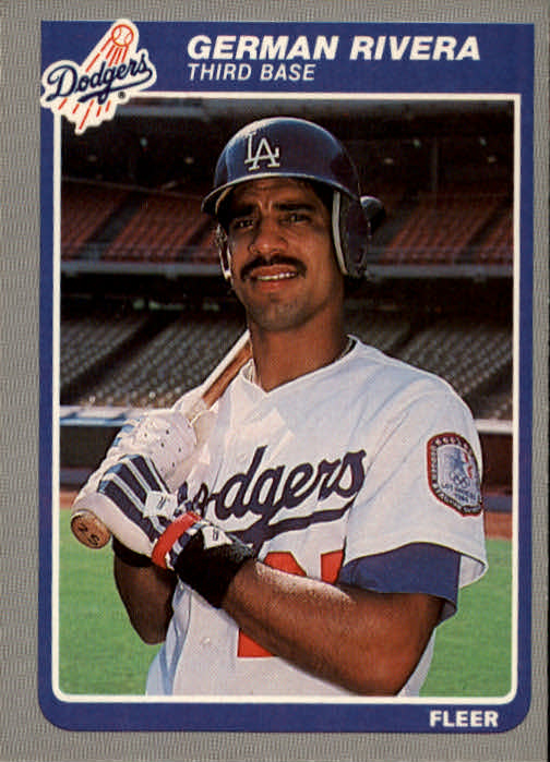 1985 Fleer #382 German Rivera