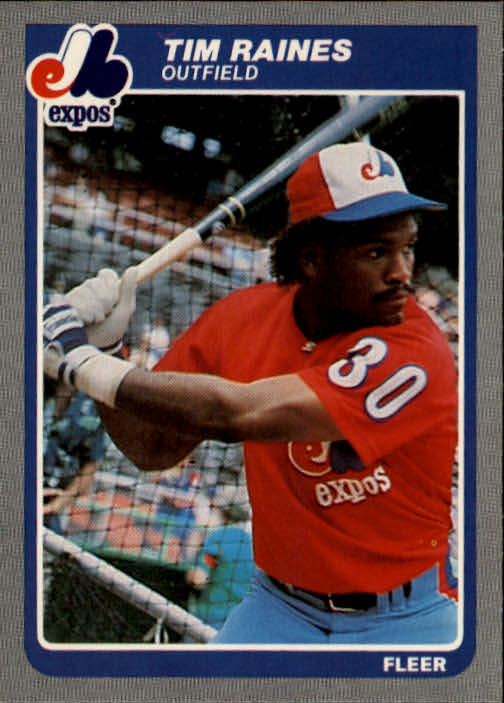 1985 Fleer #405 Tim Raines