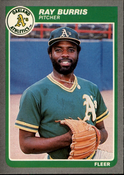 1985 Fleer #418 Ray Burris