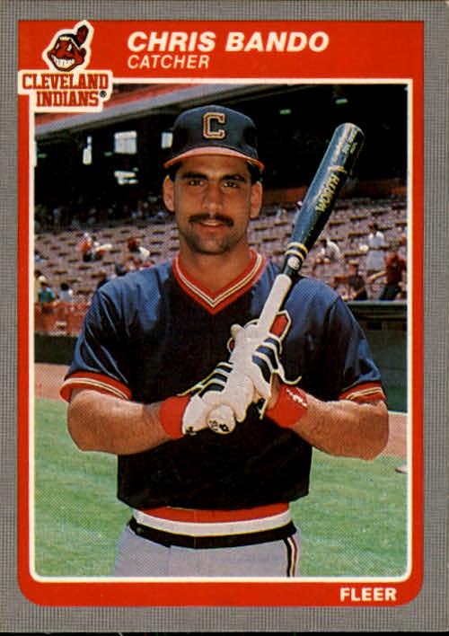 1985 Fleer #438 Chris Bando