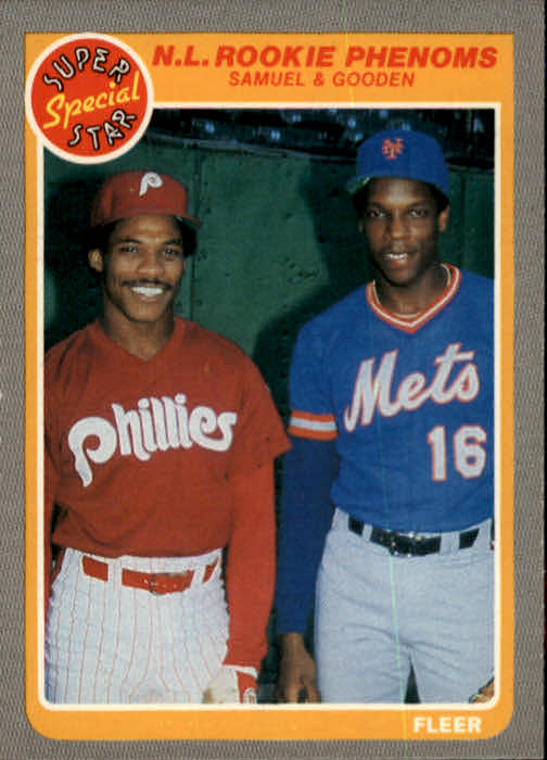 1985 Fleer #634 Dwight Gooden/J.Samuel front image