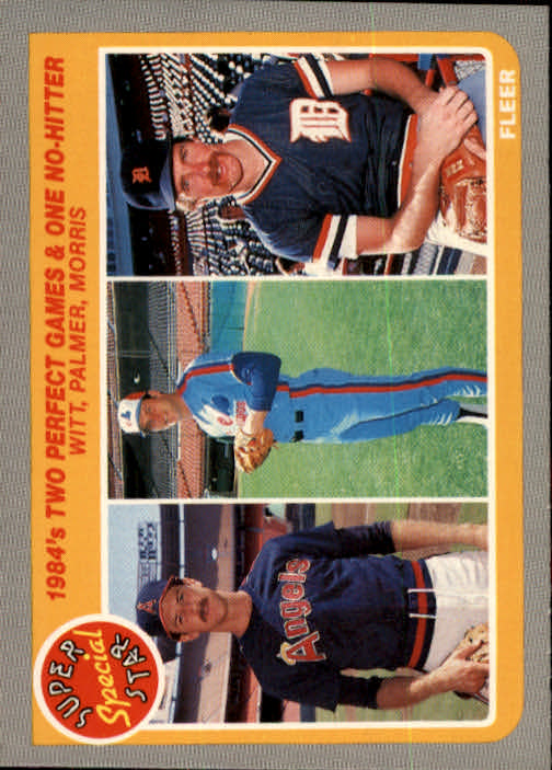 1985 Fleer #643 Two Perfect Games/and One No-Hitter:/Mike Witt/