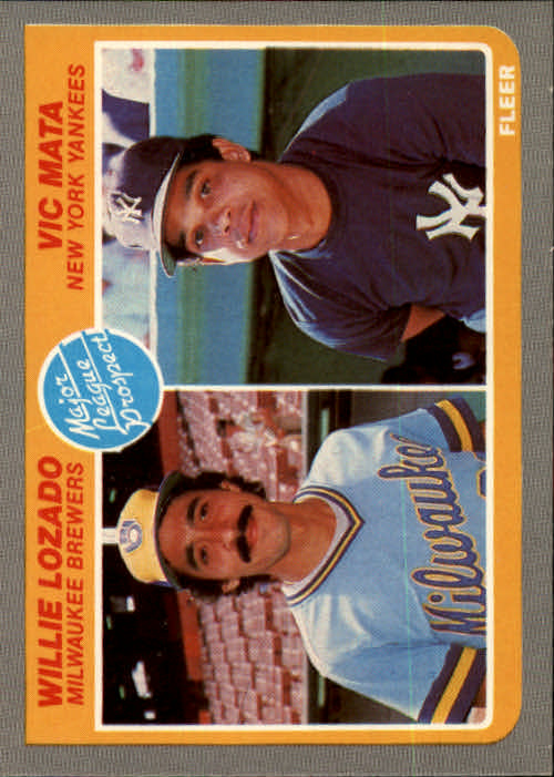 1985 Fleer #644 Willie Lozado RC/Vic Mata RC