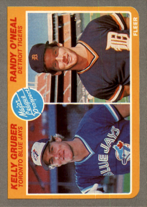 1985 Fleer #645 Kelly Gruber RC/Randy O'Neal RC