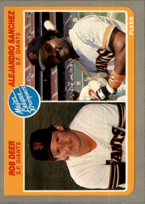 1985 Fleer #648 Rob Deer RC/Alejandro Sanchez RC