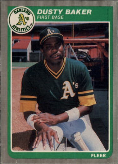 1985 Fleer Update #3 Dusty Baker
