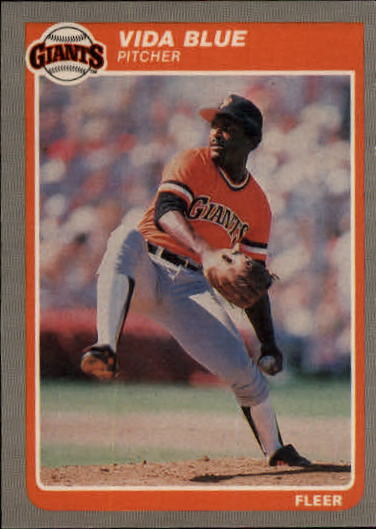 1985 Fleer Update #7 Vida Blue