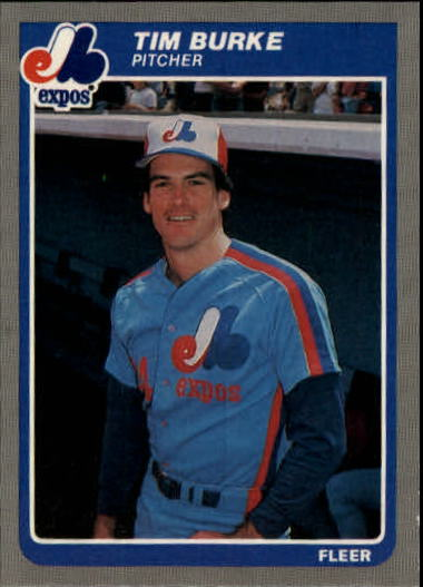 1985 Fleer Update #14 Tim Burke