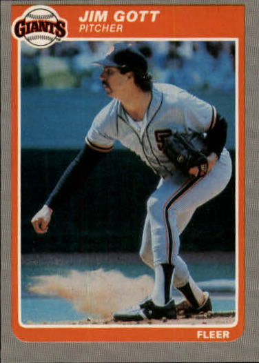 1985 Fleer Update #45 Jim Gott