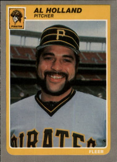 1985 Fleer Update #55 Al Holland