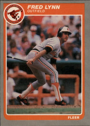 1985 Fleer Update #75 Fred Lynn