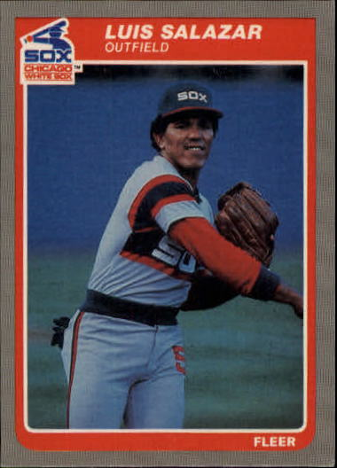 1985 Fleer Update #95 Luis Salazar