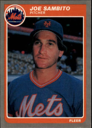 1985 Fleer Update #96 Joe Sambito