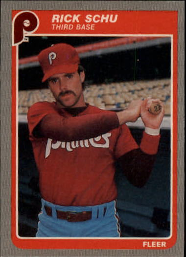 1985 Fleer Update #100 Rick Schu