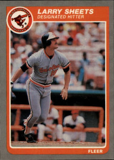 1985 Fleer Update #101 Larry Sheets XRC