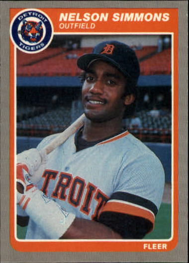 1985 Fleer Update #103 Nelson Simmons