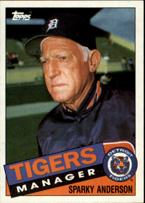 1985 Topps #307 Sparky Anderson MG
