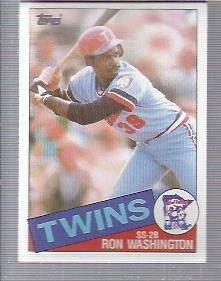 1985 Topps #329 Ron Washington