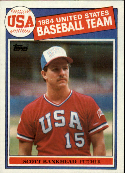 1985 Topps #393 Scott Bankhead OLY RC