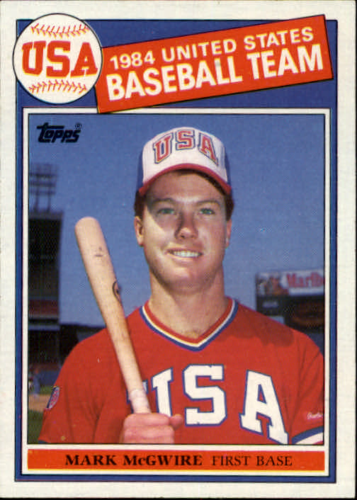 1985 Topps #401 Mark McGwire OLY RC