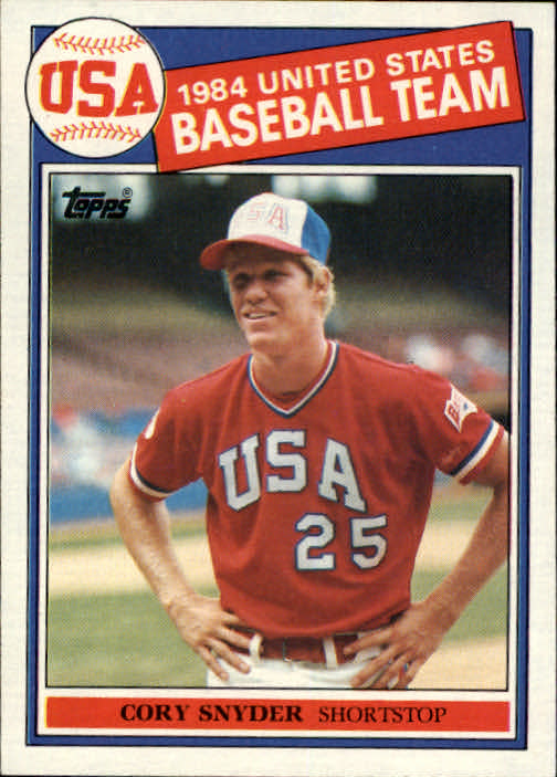 1985 Topps #403 Cory Snyder OLY RC